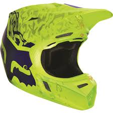 fox helmets motocross fox racing 2016 v3 cauz helmet yellow available at motocross giant
