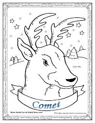 comet reindeer coloring u003e reindeer coloring pages