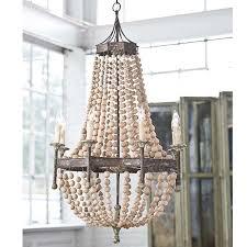 bead chandelier andrew design scalloped wood bead chandelier candelabra inc