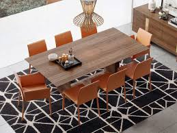 natural walnut dining table ml glendower modern dining