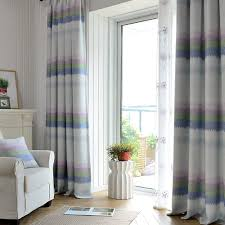 deconovo curtains embroidered blue dot faux india cotton curtains
