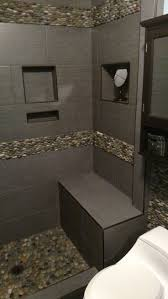 Bathroom Tile Border Ideas by 398 Best Shower Pebble Tile And Stone Tile Ideas Images On