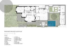 floor plan of modern family house hamersley road residence studio53 archdaily