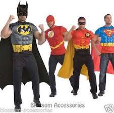 Robin Halloween Costume Men Cl489 Mens Superheroes Batman Robin Superman Flash Muscle Shirt