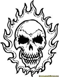 coloring pages of flames handwriting skull with wings in flames coloring page free