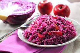 quick braised red cabbage and apple recipe epicurious com