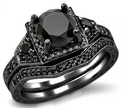 black wedding rings meaning his and hers black wedding bands