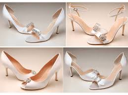Wedding Shoes Peep Toe Ideas On Satin Wedding Shoes Cherry Marry
