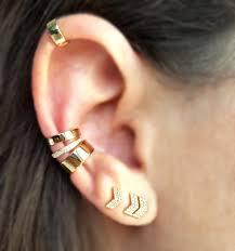 cuff ear solid 14k gold mini ear cuff designer earrings the earstylist