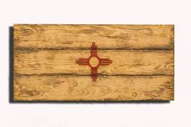 new mexico home decor new mexico state flag handmade distressed wooden vintage art