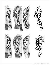 tribal tiger sleeve designs by on deviantart