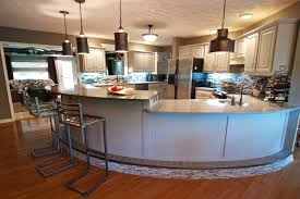 Kitchen Island Chairs Or Stools Black Iron Bar Stool And Curvy White Wooden Kitchen Island And