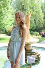 blue chiffon halter dress nataliastyle