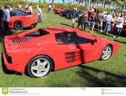 ferrari classic side view classic red ferrari 512tr sports car editorial