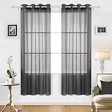 amazon com no 918 emily sheer voile curtain panel 59