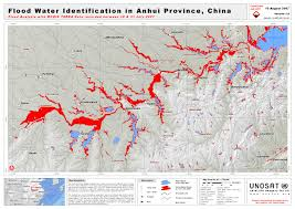 Flood Map Flood Water Identification In Anhui Province China Unitar