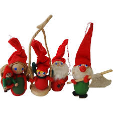 vintage hollime denmark ornaments set from