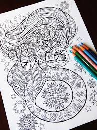 mermaid coloring page candy hippie coloring pages