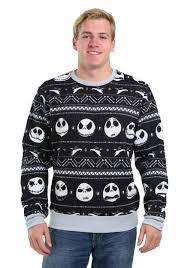 nightmare before christmas patterned men u0027s ugly christmas sweater
