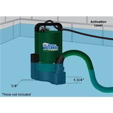automatic utility pump 1 3 hp basement watchdog