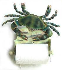 toilet paper holder blue crab decorative toilet tissue holder