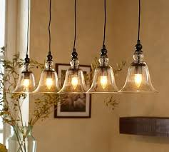 Lights Pendant Rustic Glass 5 Light Pendant Pottery Barn