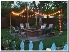 Backyard Party Lights by How To Make A Pole To Add String Lights To The Deck Back Yard