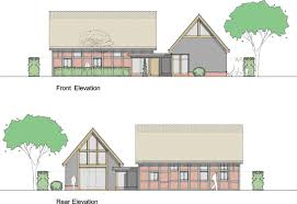 sketch proposals drawn up to extend a listed thatched barn in