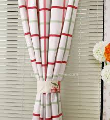 Curtain Sales Online Plaid Elegant Metal Hooks Colorful Curtains Sale Online