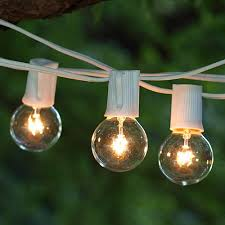 brightech ambience outdoor strand lights with 25 g40 clear