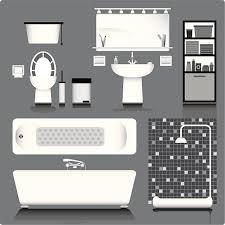 Bathroom In Black Domestic Bathroom Clip Art Vector Images U0026 Illustrations Istock