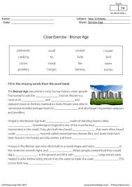 collection of solutions cloze procedure worksheets ks2 about