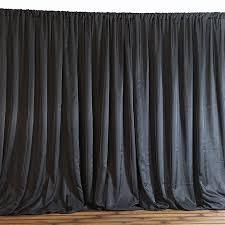 20 feet x 10 feet black fabric backdrop curtain from balsa circle