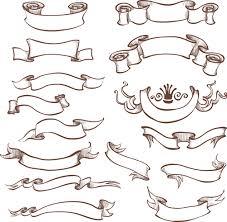 retro ribbon with ornaments vector 03 vector label