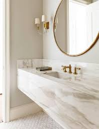 brass bathroom mirror 2016 key interior design trend gold floating vanity vanity