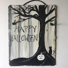 happy halloween slate door hanging halloween decorations