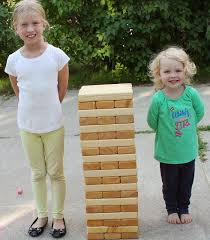 Backyard Jenga Set by Building A Giant Outdoor Jenga Game Simple Suburban Living