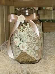 Rustic Mason Jar Centerpieces For Weddings by Burlap Ivory Lace Shabby Chic Outdoor Mason Jar Bridal
