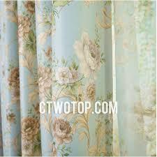luxury european floral vintage baby blue modern curtains
