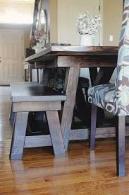 kitchen table round farmhouse with bench marble live edge 2 seats