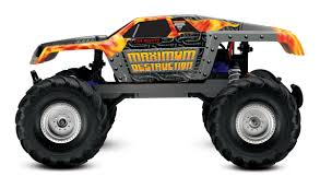 grave digger rc monster truck traxxas maximum destruction rtr incl 8 4v battery and charger