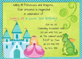 princess dragon birthday invitation custom you print or email