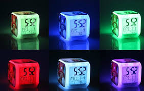 night light alarm clock minecraft creeper alarm clock 7 led color change excellent night