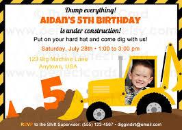 Birthday Invitation Cards Free Download Free Construction Birthday Invitations Ideas Best Invitations