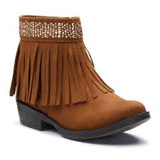 So Ankle Boots Raquel Girls U0027 Fringe Ankle Boots