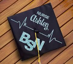 nursing graduation cap custom nursing graduation cap decal decoration name bsn