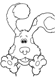 paws blues clues colouring happy colouring