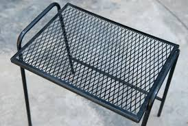 Metal Mesh Patio Table Metal Mesh Outdoor Furniture Square Metal Mesh Patio Table Wfud