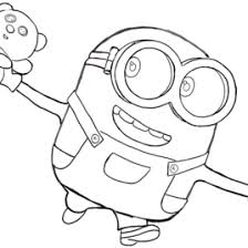 coloring pages minions bob kids drawing coloring pages