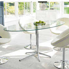 Oval Glass Dining Table Dining Tables Contemporary Dining Room Furniture From Dwell